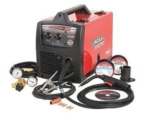 Lincoln Electric MIG Welder, Handheld, 120VAC.
